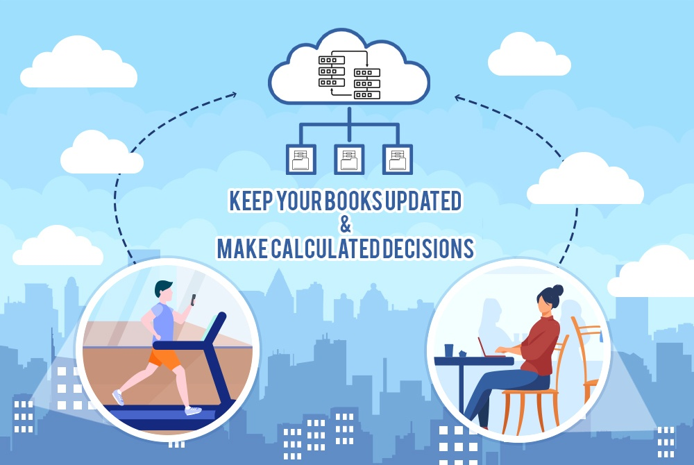Virtual accounting service provider in the online bookkeeping agency helps a business man to keep his business financial statements updated on the cloud platform.