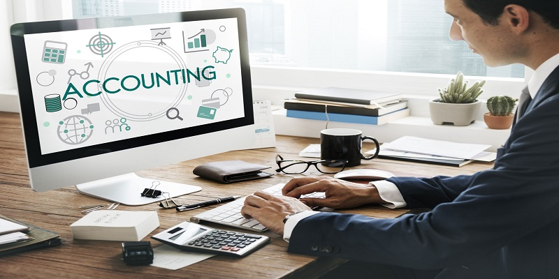 Virtual accountant working on Book keeping your financial transactions