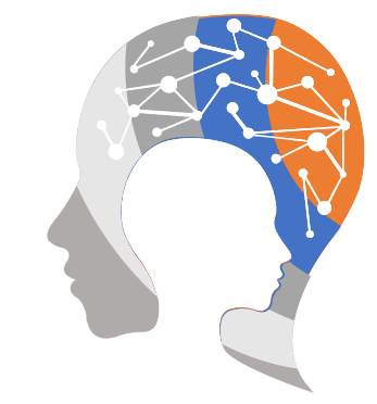 A human face in side angle depicting the computer-aided audit tool with advanced data analytics embedded in his brain