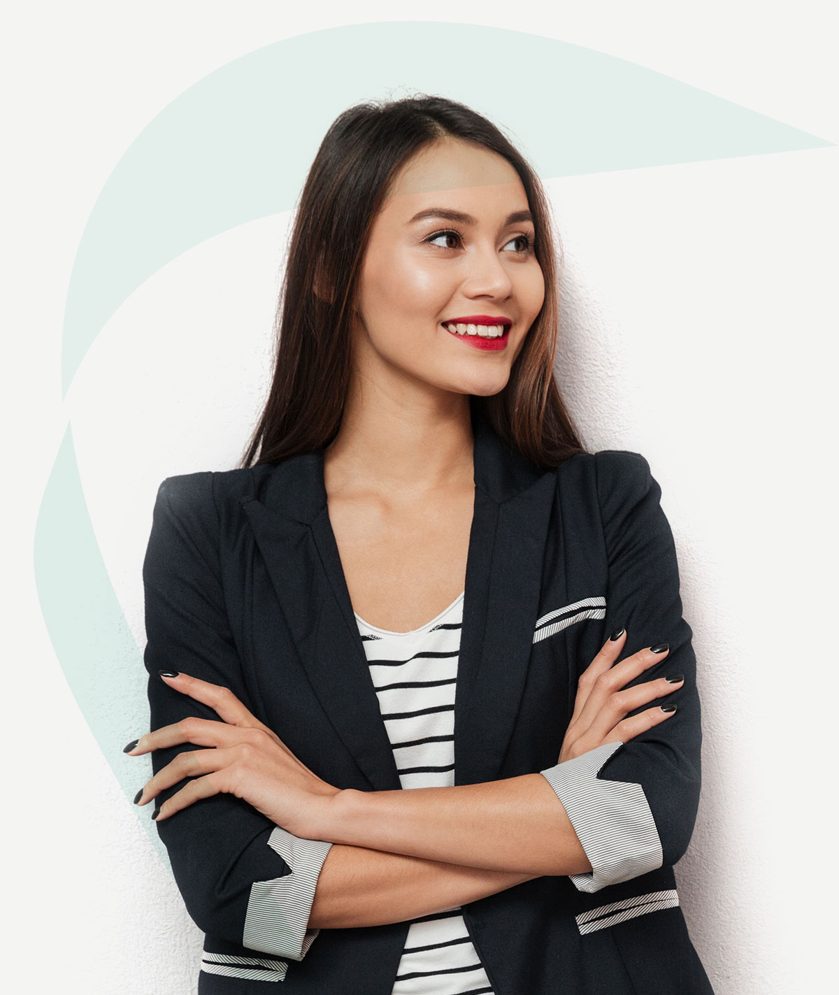 A female virtual bookkeeping personnel